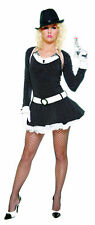 BOMBSHELL BUGSY GANGSTER  FANCY DRESS OUTFIT SIZE S/M NEW