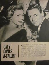 Lauren Bacall, Cary Grant, Full Page Clipping