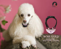 Pink Dog Bark Collar Automatic Shock Training Pet USB Charge Small Dog Paipaitek