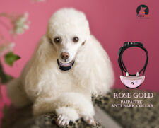 Pink Dog Bark Collar Automatic Shock Training Pet USB Charge Small Dog Paipaitek