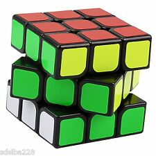 NEW YJ GuanLong 3x3x3 Magic Cube Black puzzle small travel size