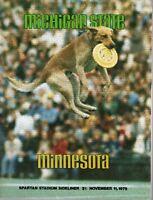 1978 (11/11) NCAA Football program, Minnesota Gophers @ Michigan State Spartans