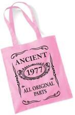 40th compleanno regalo Tote Borsa shopping cotone Mam antica 1977 tutte le parti originali
