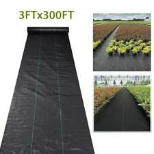 3x300ft Heavy-Duty Weed Barrier Garden Landscape Uv Pp Fabric Woven Ground Cover