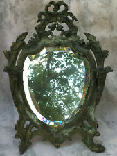 Ancien miroir au mercure petit miroir sur pied coiffeuse boudoir