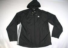 Adidas Jacket Wind Rain Windbreaker Hoodie Men M Black NEW