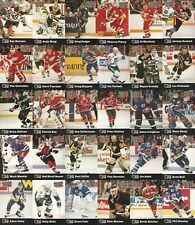 1991-92 Pro Set Puck 30 Card Hand Collated Complete Hockey Set