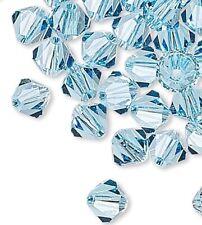 144 Swarovski Aquamarine 4mm Xilion Crystal Bicone Beads (5328)