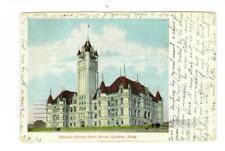 Spokane, WA  Spokane County Court House used  postcard 1907