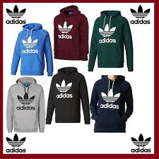 Adidas Originals Mens Trefoil Logo Fleece Hoodie Top Hooded Sweat shirt S M L XL
