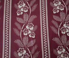 Chelsea Fair BTY RJR Fabrics Civil War Reproduction Off-White Wine Floral Stripe