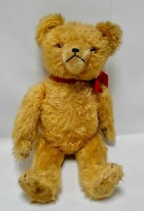 Sweet vintage mohair Hermann bear yellow