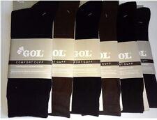 6 Pairs Men's Best Quality Cotton Socks dress Crew Comfort Cuff Gents casual