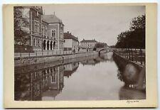 Uppsala Sweden ca. 1890 -Nad kanałem 17x11,5 cm.