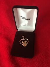 Disney Mickey And Minnie Heart Pendant