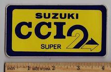 SUZUKI CCI 2 Vintage STICKER TM400 GT750 T500 RM370 TS125 TM250 GT550 RM250 T350