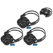 3 New Foldable Wireless Dvd Headphones Headset W/ Batteries For Toyota Lexus