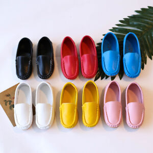 Toddler Little Kid Boys Girls Candy Color Soft Slip On Loafers Dress Flat Shoes