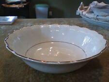 "Vintage Walbrzych Poland Porcelain Round 9"" Serving Vegetable Bowl Gold Trim"