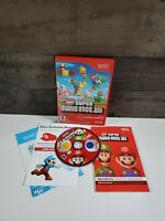 New Super Mario Bros. Wii (Nintendo Wii, 2009) Complete w/ Manual Tested Working