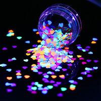 1g 4mm Fluoreszierend Nagel Sequins Nail Art Flakies Nagel Glitter Paillette