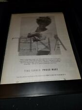 Tina Turner Proud Mary Rare Original Radio Promo Poster Ad Framed!