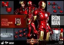 Hot Toys Iron Man Mark III DIE CAST MK 3 EXCLUSIVE MMS256 D07 Tony Stark Sealed!