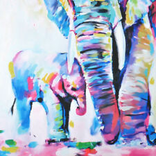 Hand-painted Art Oil Painting Abstract Modern Home Wall Decor On Canvas Elephant