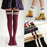 Women Girls Over Knee Socks Warm Stockings Long Cotton Thigh-High School Sock