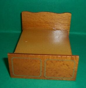 VINTAGE 1970's LUNDBY BARTON DOLLS HOUSE BEDROOM DOUBLE BED