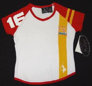 Baby Phat Girls White Short Sleeve Tee T Shirt Little Girl Size  4  NWT $22