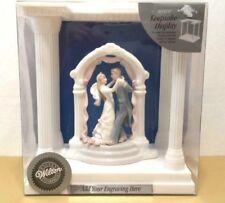 New WILTON Porcelain Bride Groom Wedding Topper Ornament Engravable Keepsake