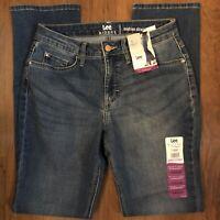 NWT Lee Riders Size 4 Straight Leg Midrise Regular Fit Jeans Denim Pants Medium