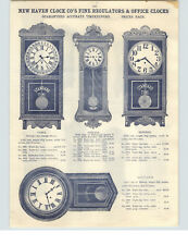 "1910 PAPER AD New Haven Waterbury Office Regulator Clock 52"" Standard Time"