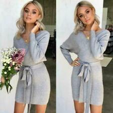 Fashion Autumn Women's Long Sleeve Sexy Bodycon Short Mini Party Pencil Dress