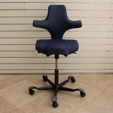 HAG Capisco 8106 Office Chair Stool, Dark Navy Leather - Showroom Model