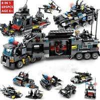 City Police SWAT Theme Truck Building Blocks Set Ship Vehicle Technic Bricks Toy