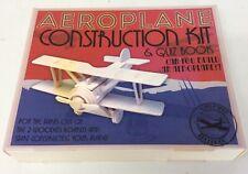 Aeroplane construction kit and quiz book wood