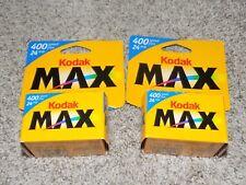 Kodak Max Versatility 400 film 24 exposures 2 Rolls- Expired