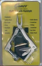 Camco Multi Tool with Flashlight Pouch New Sealed Gift Camillus NY Blade Pliers
