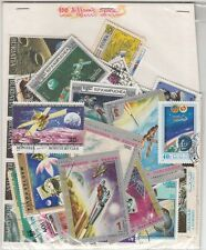 """SPACE"" Theme wise CTO stamps pack of 100 Different ~~ Rare Theme"