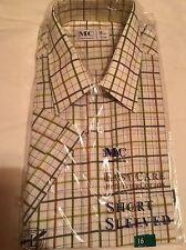Men's Check Shirt Size 16 Collar