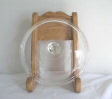 """PYREX RIBBED CLEAR ROUND GLASS LID- 21 REPLACEMENT Outer Rim 8.75"""" Inner 8"""""""
