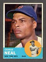 1963 Topps Baseball #511 Charlie Neal New York Mets - 6th Series