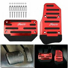 1set Universal Non-Slip Automatic Gas Brake Foot Pedal Pad Cover Accessories Red