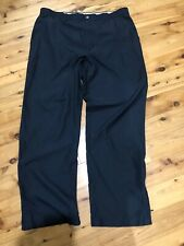 Callaway Wind Golf Pants 36 X 30 Black Polyester Flat Front Zipper Pockets