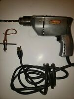 "Vintage 3/8"" Industrial Craftsman Electric Drill With Chuck"