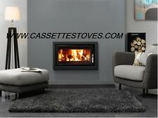 MODERN INSET CASSETTE STOVE 5-8kw heat range wood burner multi fuel plasma fire