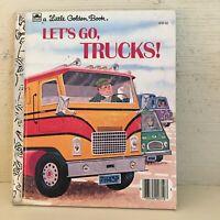 Vintage Let's Go Trucks Little Golden Book by David Harrison U edition
