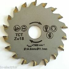 54.8mm Diameter 11.1mm Bore Mini TCT Circular Saw Wood Cutting Blade Disc